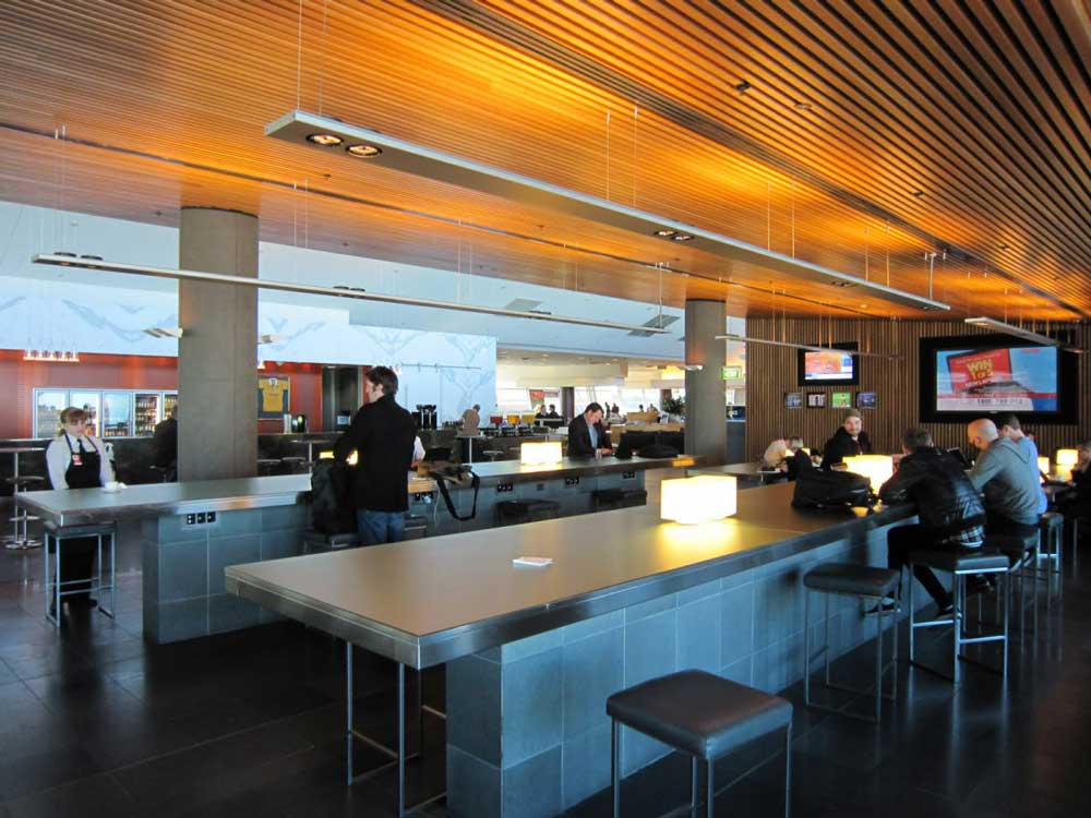 Qantas Lounge extension T4 Perth airport